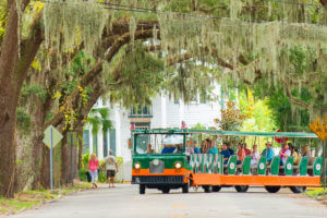 sightseeing in st. augustine aboard old town trolley