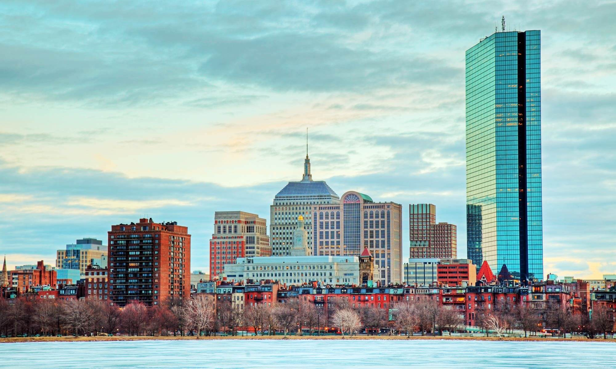 View of the Boston, MA skyline from the Charles River