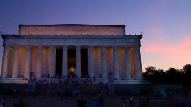 Lincoln Memorial at dusk in Washington DC