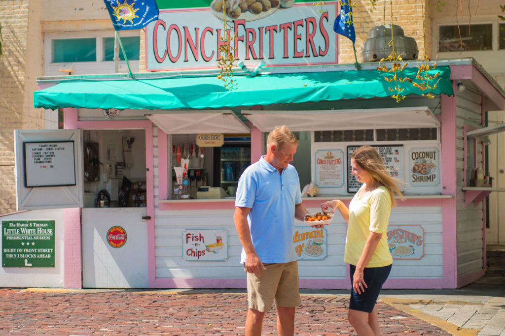 conch fritters stand