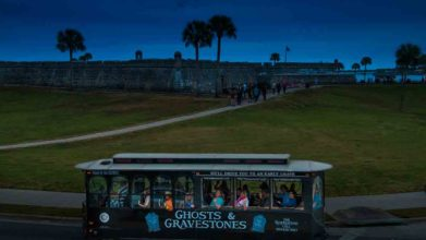 Ghost Trolley and Castillo de San Marcos