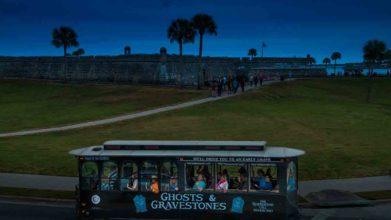 Ghost Trolley and Castillo de San Marcos