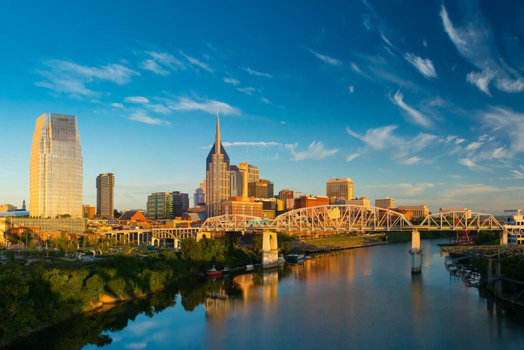 Nashville city view fall
