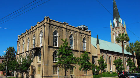 exterior of Savannah St. John Episcopal Church