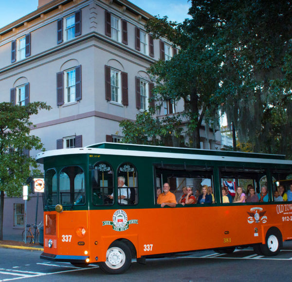 Old Town Trolley tour stop 2 at Juliette Gordon Low House