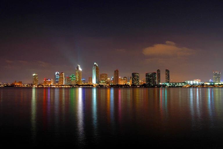 san diego cityscape night