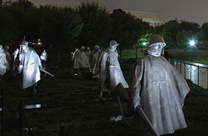 Statues of soldiers from the Korean War