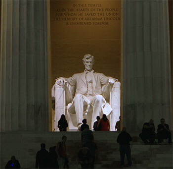 Lincoln Memorial in Washington DC