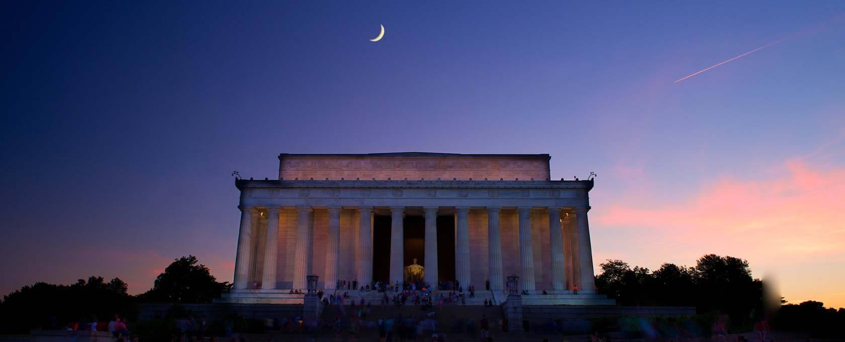 Washington DC monument at night