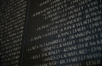 Veterans names in Washington DC