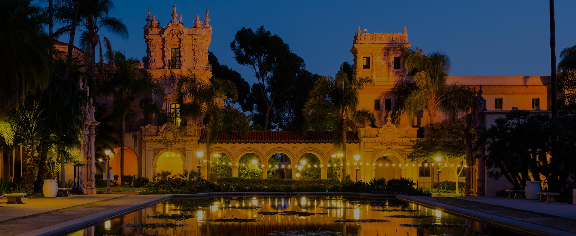 Balboa Park in San Diego, CA at Night