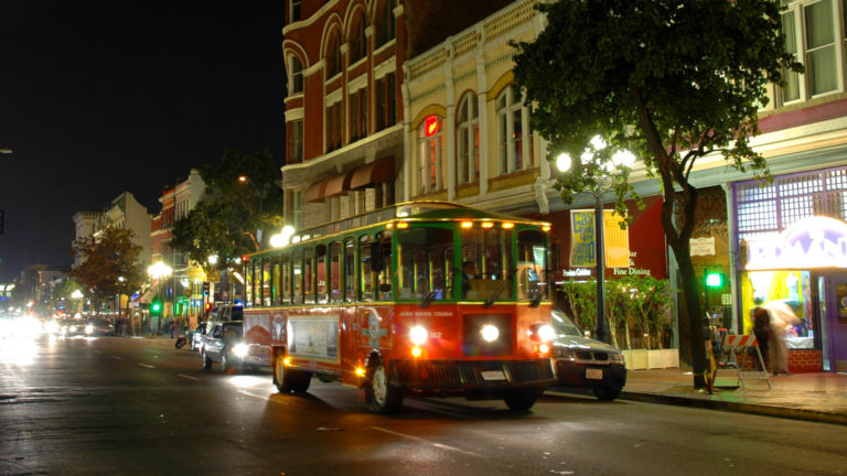Night Tour Trolley in San Diego's Gaslamp Quarter