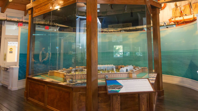 Sails to Rails Museum diorama of Fort Jefferson