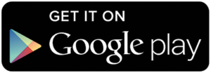 logo that contains a triangular shape and the words 'Get in on Google play'