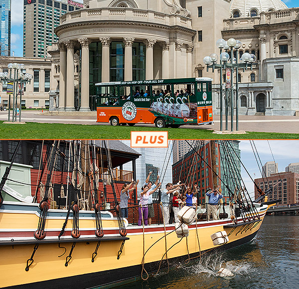 Boston Trolley City Tour and Tea Party Ships