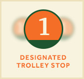1 designated trolley stop