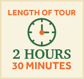 length of tour 2 hours and 30 minutes
