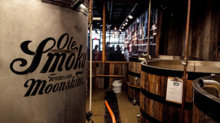 Ole Smoky Distillery distillers and barrels