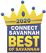 logo that reads '2020 Connect Savannah Best of Savannah'
