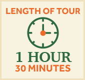 length of tour 1 hour 30 minutes